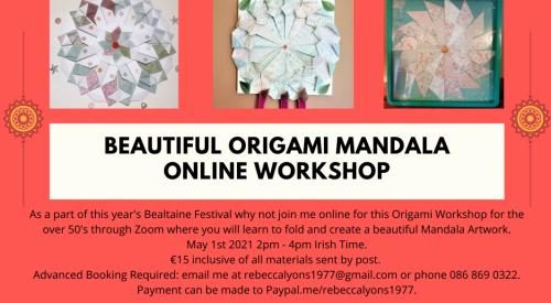 Beautiful Origami Mandala Online Workshop