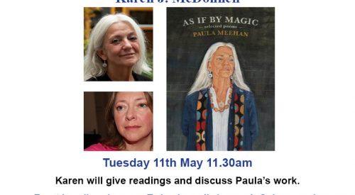 Reading Paula Meehan with Karen J. McDonnell