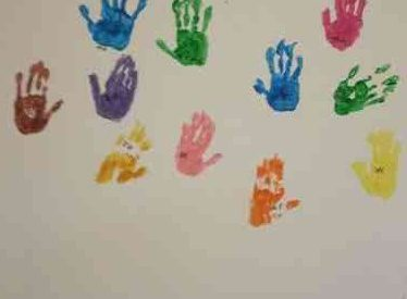 National Arts In Nursing Homes Day: Hand Prints